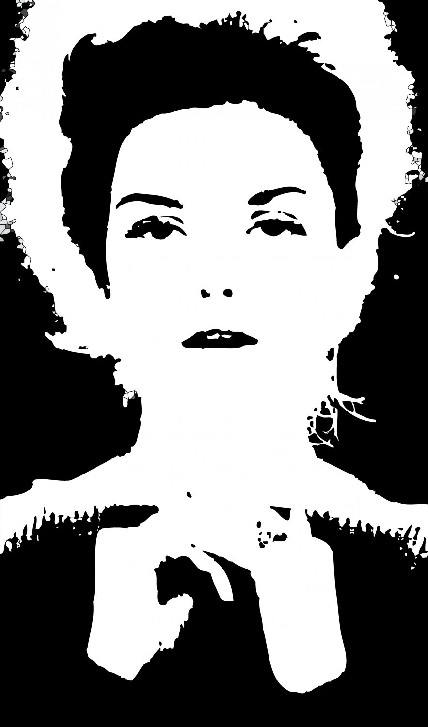 - Here, the picture has been transformed to PostScript, becoming a series of objects rather than pixels - A portrait of Donna Mitchell as a young model - 1962 - - art  - photography - by Tony Karp