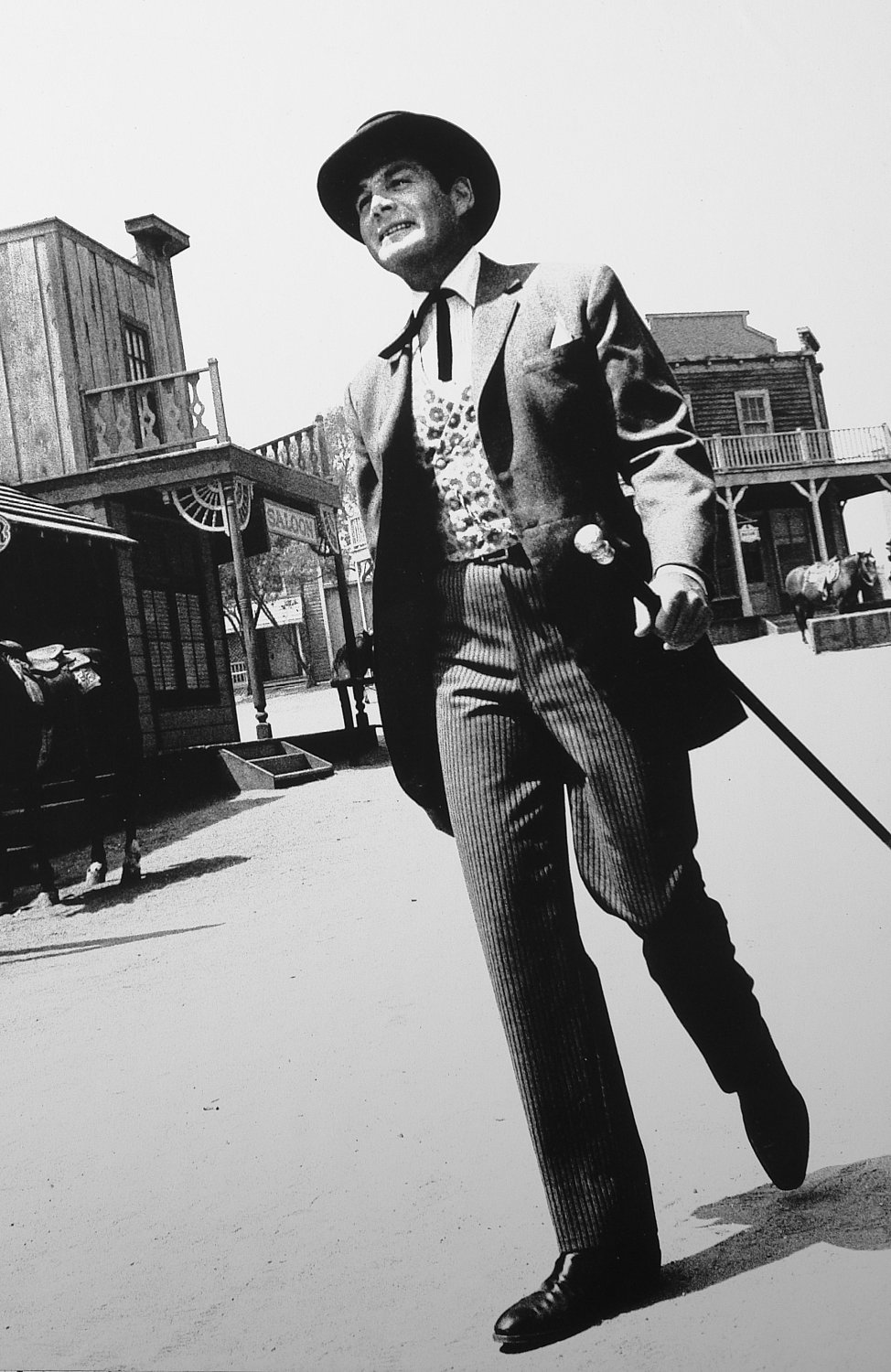 - Gene Barry as Bat Masterson strolls a western street. - Photojournalism - Life Magazine - NBC TV - Tony Karp, design, art, photography, techno-impressionist, techno-impressionism, aerial photography , drone , drones , dji , mavic pro , video , 3D printing - Books -