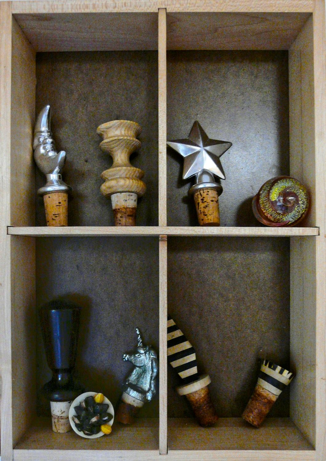 - Bouchons in wooden cabinet - - art  - photography - by Tony Karp