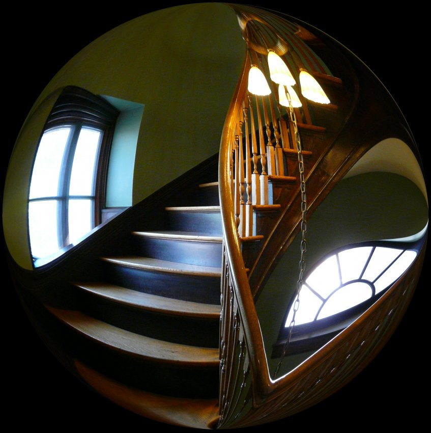 At the Handley Library in Winchester Virginia - A spiral staircase easily fits inside a bubble -  Tony Karp's Bubble Pictures - From 1959 to 2013 - Tony Karp, design, art, photography, techno-impressionist, techno-impressionism, aerial photography , drone , drones , dji , mavic pro , video , 3D printing - Books -