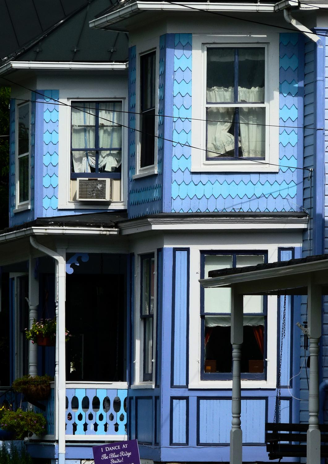 blue house - A lovely old Berryville house - Berryville Virginia - Panasonic DMC-FZ28 - - art  - photography - by Tony Karp