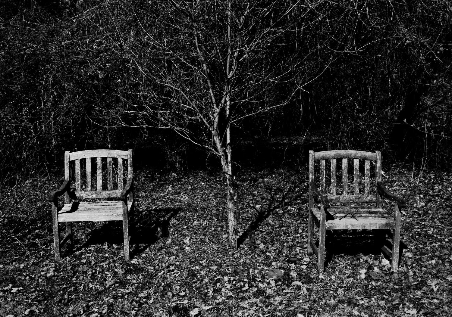 -  Chairs for two in a forgotten place. - Panasonic DMC-ZS40 - Panasonic DMC-TZ60 - - Tony Karp, design, art, photography, techno-impressionist, techno-impressionism, aerial photography , drone , drones , dji , mavic pro , video , 3D printing - Books -