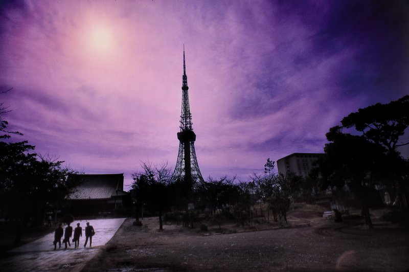 sunset with Tokyo tower - Tokyo 1965 - Kodachrome - Tony Karp, design, art, photography, techno-impressionist, techno-impressionism, aerial photography , drone , drones , dji , mavic pro , video , 3D printing - Books -